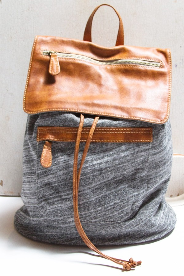 Mixed Materials Backpack