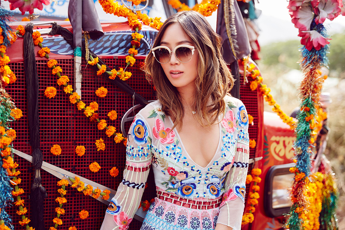 luxe digital luxury influencer marketing jimmy choo candice lake aimee song campaign