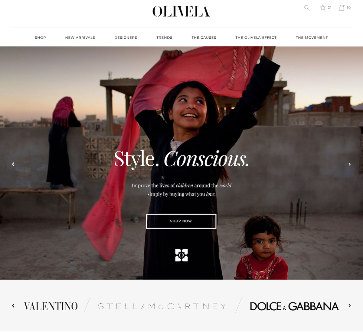 luxe digital philantropic luxury retail ecommerce olivela fashion