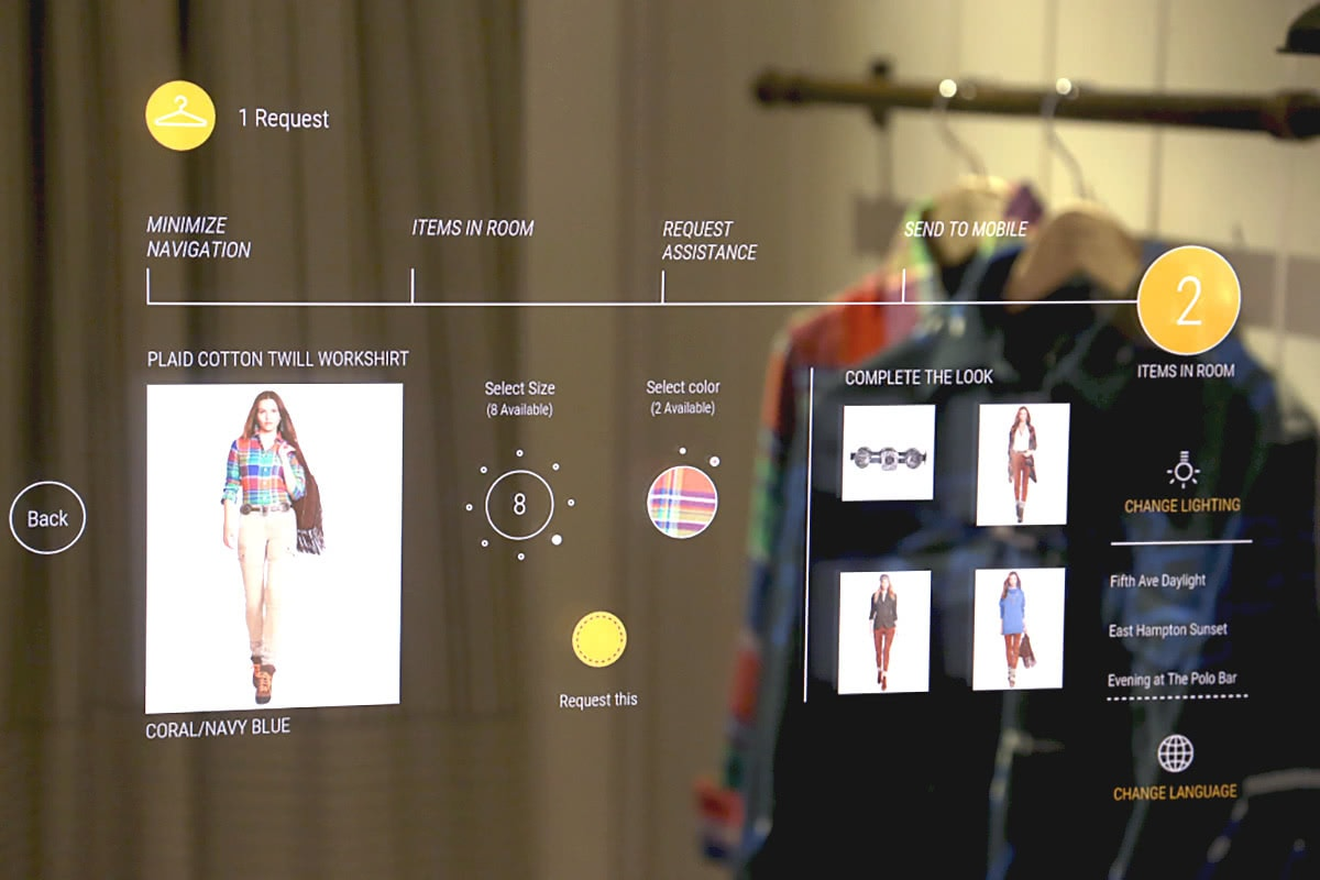 Luxe Digital luxury retail technology trends 2018 interactive mirror Ralph Lauren