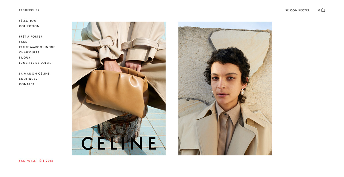 Celine Luxury Fashion eCommerce Website Visual Display Future of Online Luxury Retail Luxe Digital