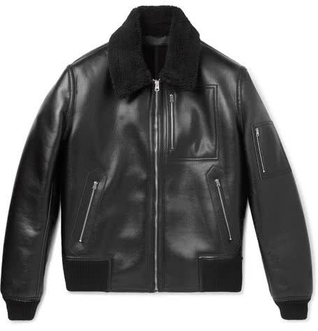 Luxe Digital luxury lifestyle leather bomber jacket Stella McCartney