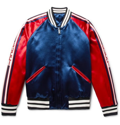 Luxe Digital luxury lifestyle red bomber jacket Gucci