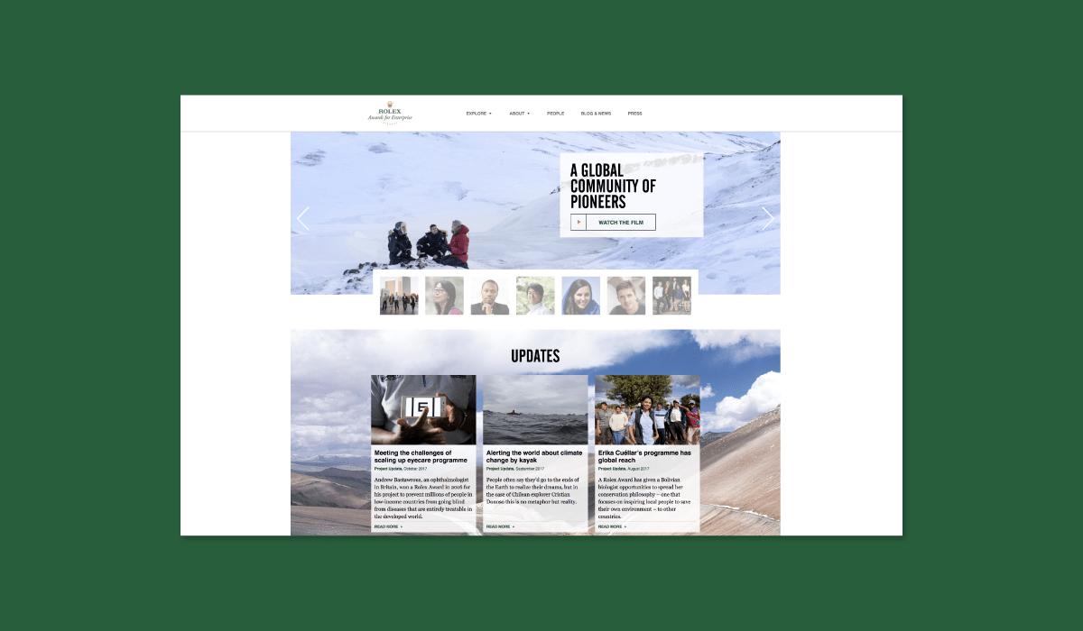 Luxe Digital Millennials environmentally conscious luxury Rolex awards enterprise