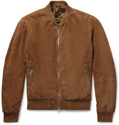 Luxe Digital luxury lifestyle brown bomber jacket hackett