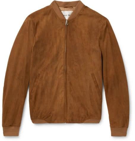 Luxe Digital luxury lifestyle tan bomber jacket standard salle privee
