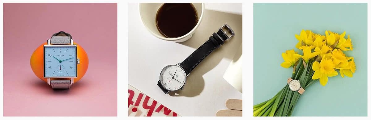 Luxe Digital luxury watch Nomos Glashuette Instagram