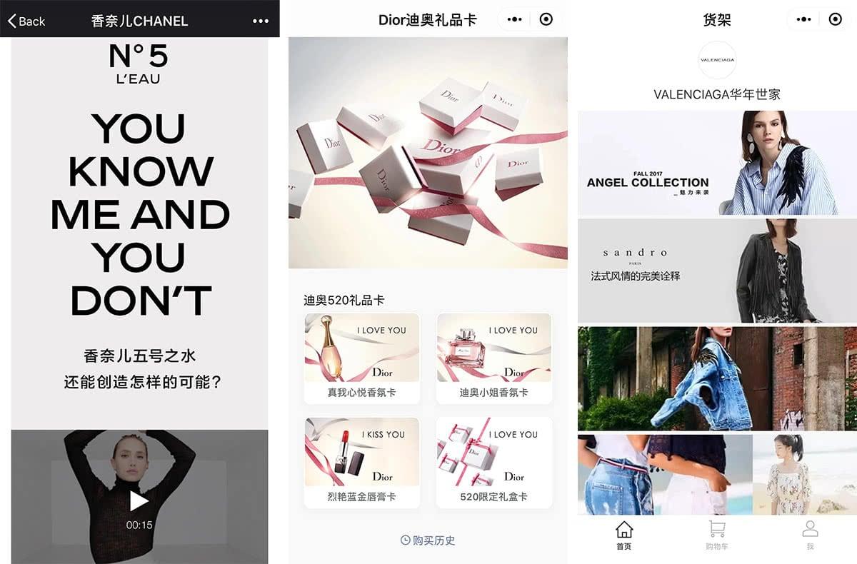 Luxe Digital luxury China WeChat mini-program