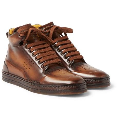 Luxe Digital best men luxury sneakers Berluti high-top