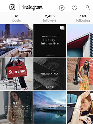Luxe Digital Instagram luxury lifestyle