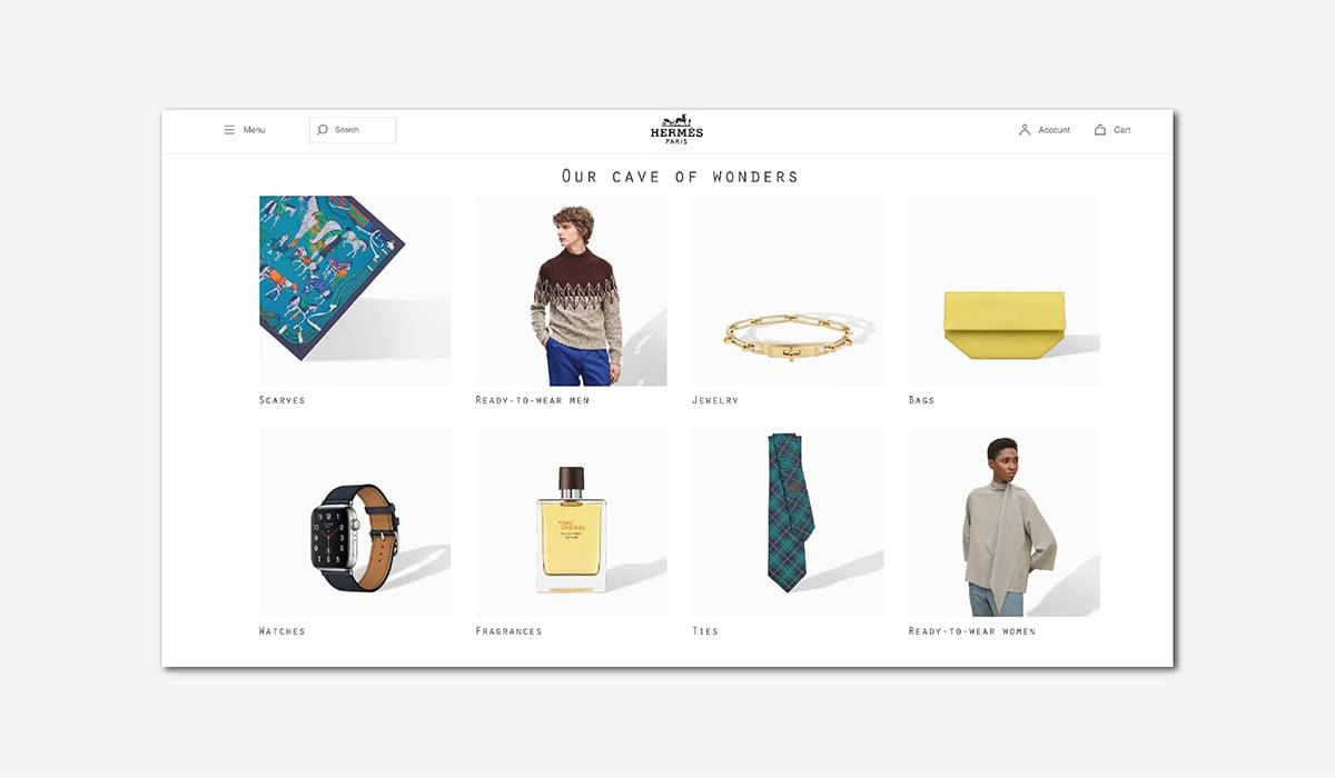 Best Luxury Brands Online Hermes Digital Flagship Website Luxe Digital