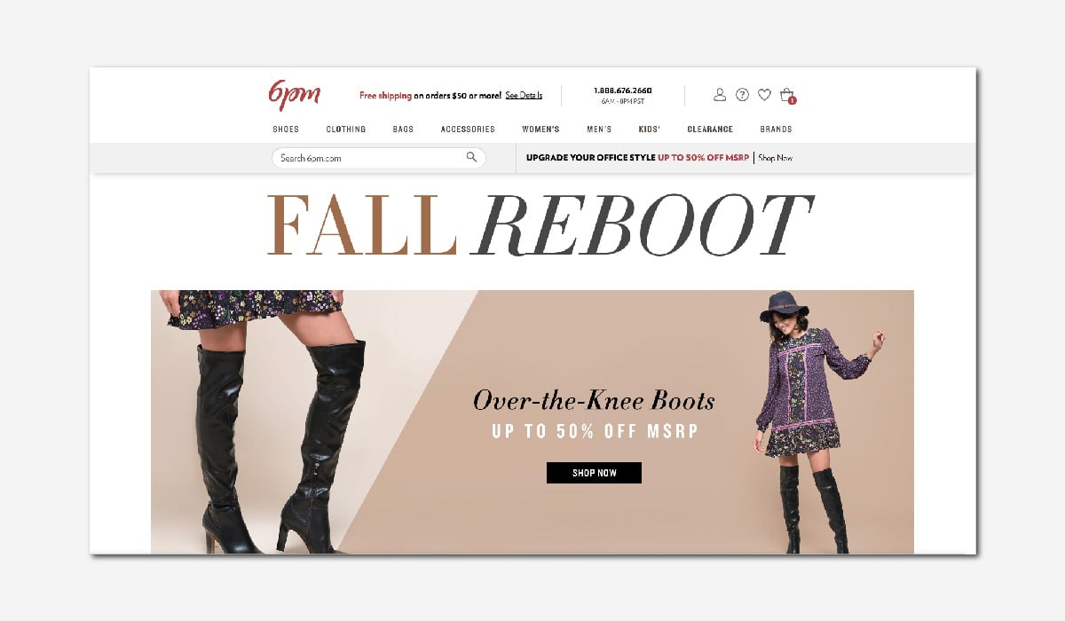 online luxury private sales discount website 6pm Luxe Digital