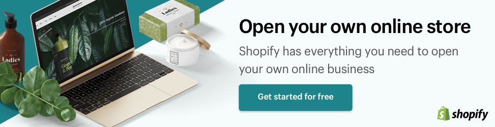 Shopify ad banner