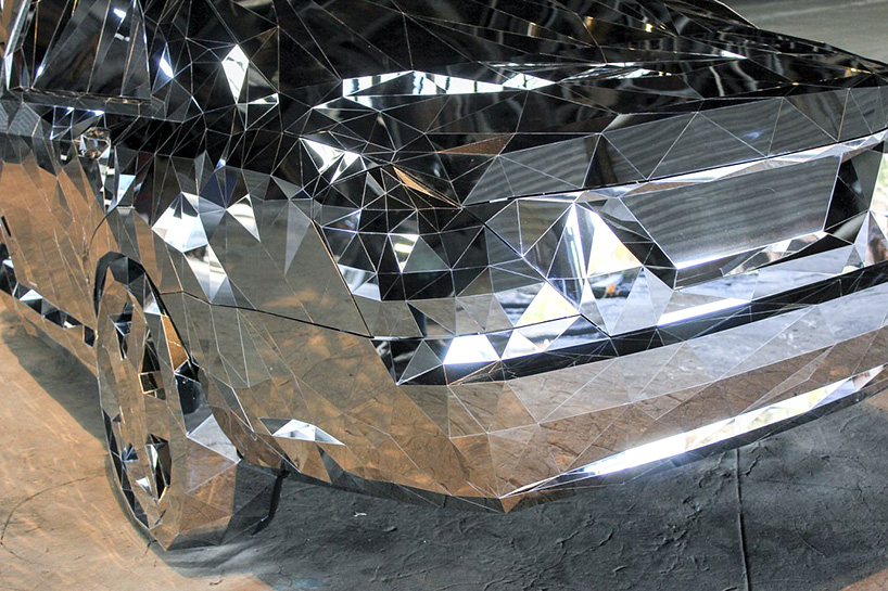 So accurate is the 3D modelling that you can even recognise the tail of the Mercedes-Benz S550 from Griska's Wreck sculpture. Image: Philadelphia Contemporary