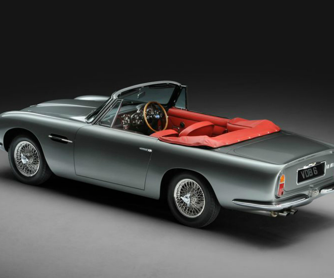 Vintage Aston Martin Db5: The Exotic Aston Classic Car In Tudor Metallic Grey