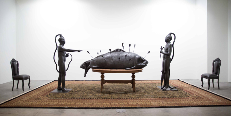 luxuo-id-art-stage-singapore-2016_entang-wiharso_feast-table-undeclared-perceptions_presented-by-arndt