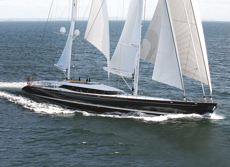 Luxury sail yacht Mondango by Alloy Yachts. built for extensive blue-water cruising