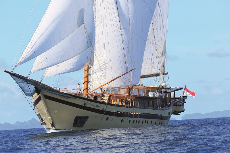 65m luxury sail yacht Lamima described as the most luxurious Indonesian Phinisi ever built