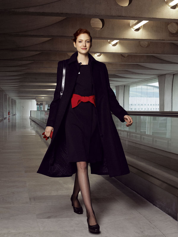Air France uniforms are designed by Christian Lacroix