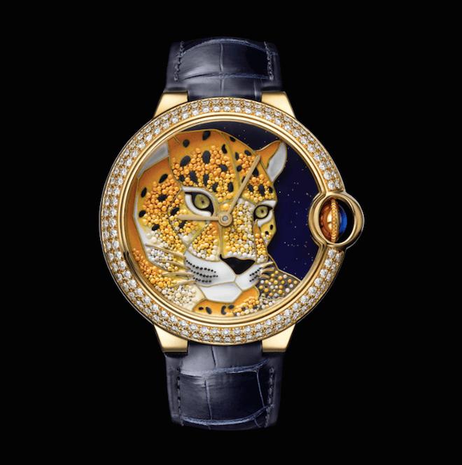 Cartier Ballon Bleu de Cartier Enamel Granulation with Panther Motif