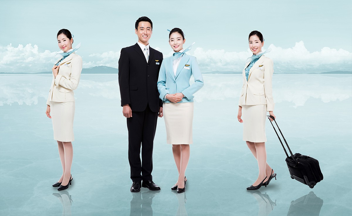 Korean Air uniforms by Gianfranco Ferre