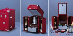 Krug Escape Artist Champagne Trunk Collection