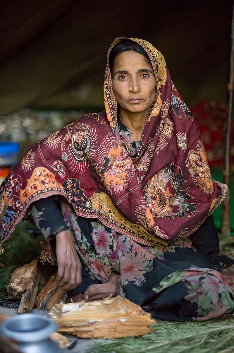 Poised nomadic woman prided her way of life, Kashmir, 2015; Laxmi Kaul