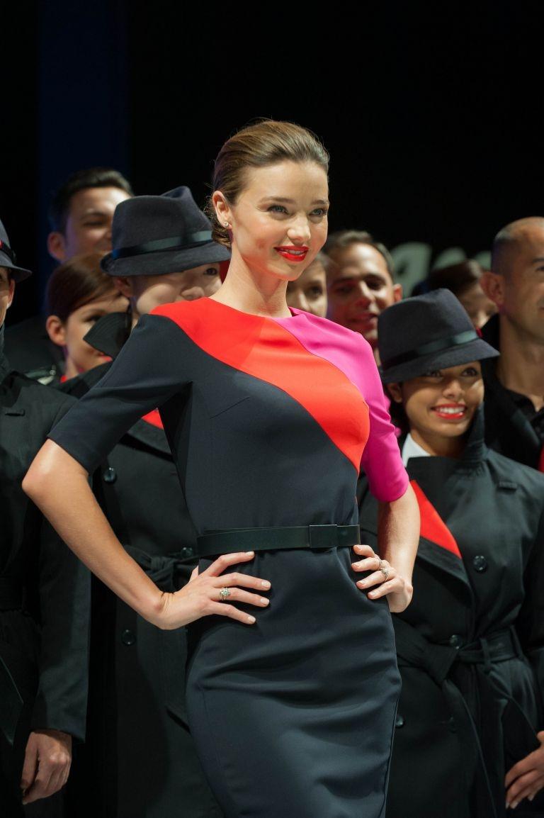 Miranda Kerr Qantas New Uniform