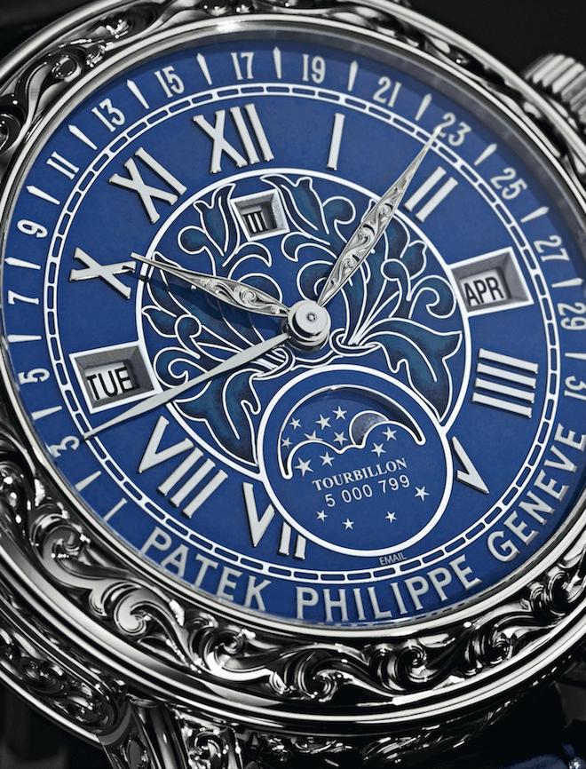 Patek Philippe's Ref. 6002 combines champlevé and cloisonné enamelling