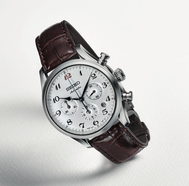 Seiko's Presage SRQ019 chronograph with white enamel dial