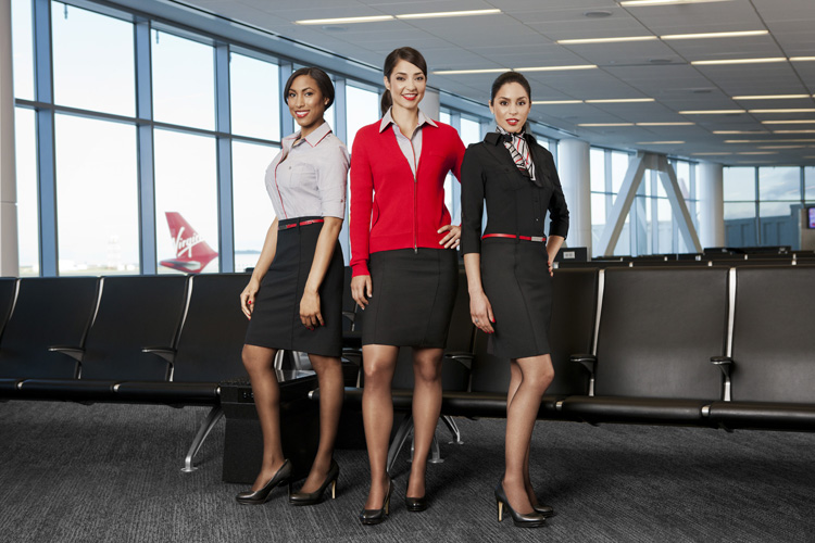 Virgin America Women Uniforms Banana Republic