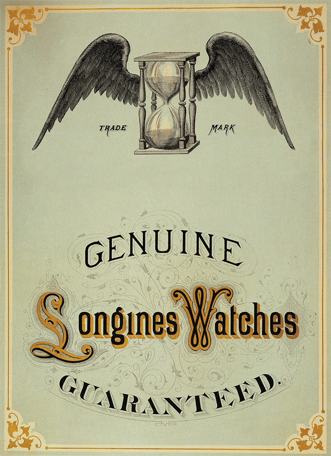 Longines chose wisely in having its trademarked logo be a winged hourglass, way back in 1905.