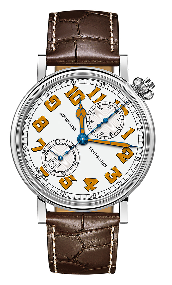 The white dial here is in lacquer, while the original Type A-7 would have used porcelain