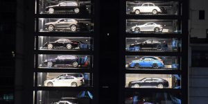 Vending machine for luxury cars in Singapore: Car dealer Autobahn Motors has a unique way of displaying posh automobiles