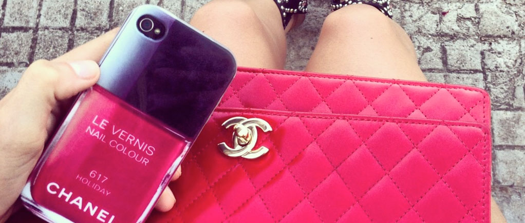 Chanel Iphone 5 iPhone 5s Cases nail Polish