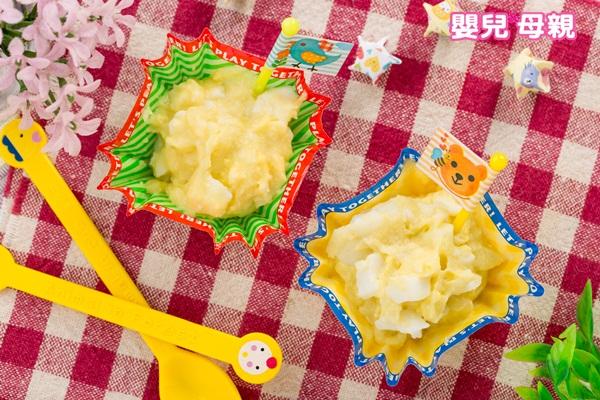 嬰兒副食品,馬鈴薯蒸蛋泥成品圖