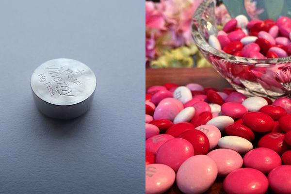形狀像鈕扣的電池,容易跟巴克球一樣被孩子當成糖果