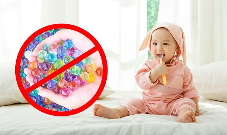 水晶寶寶五顏六色,外形酷似小糖球,容易跟巴克球一樣被孩子當成糖果