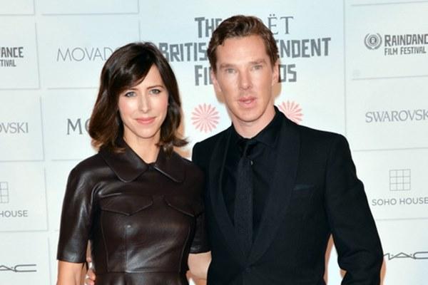 英國男星Benedict Cumberbatch與妻子Sophie Hunter也很有夫妻臉