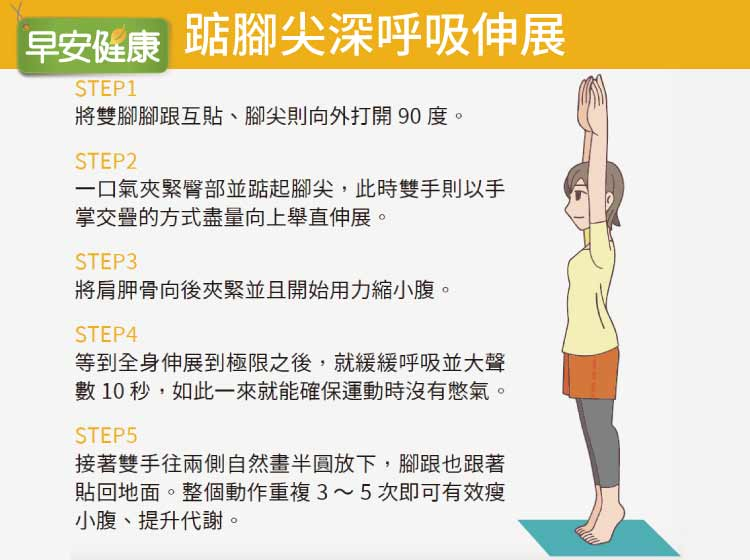 產後媽媽可以靠踮腳瘦大腿及腰臀