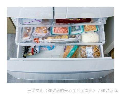冷凍庫也不要太滿,維持最多七分滿的原則