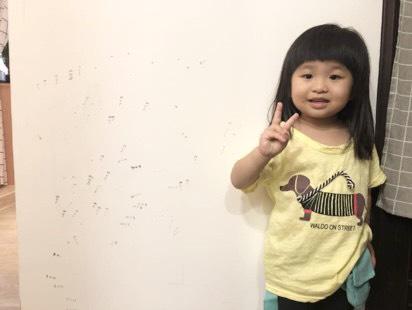 牆壁被孩子當作畫版。