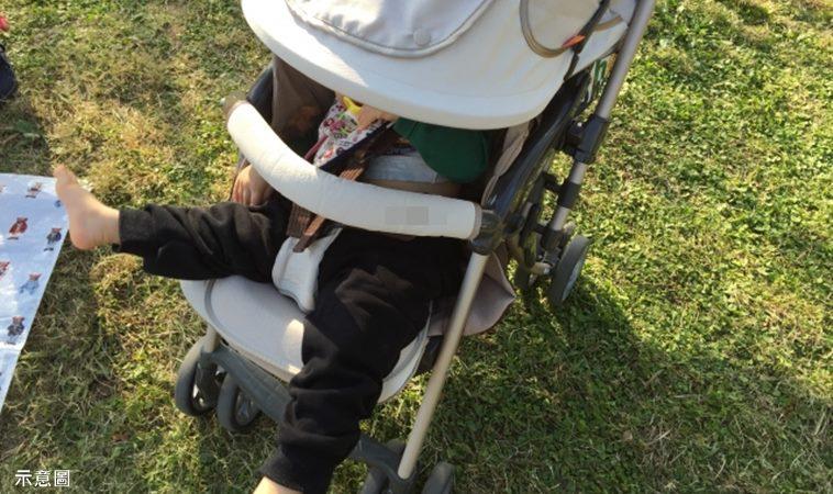 7月女嬰坐推車,竟被鄰居阿嬤酸:孫子9個月就會走了