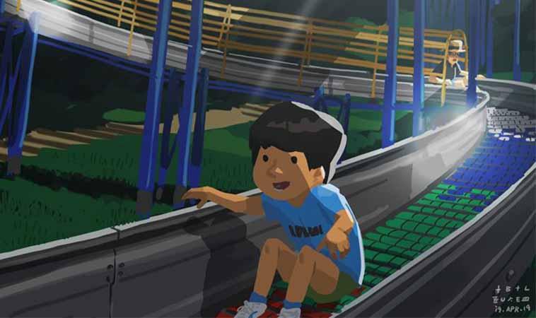 溜滑梯對小小孩的魔力