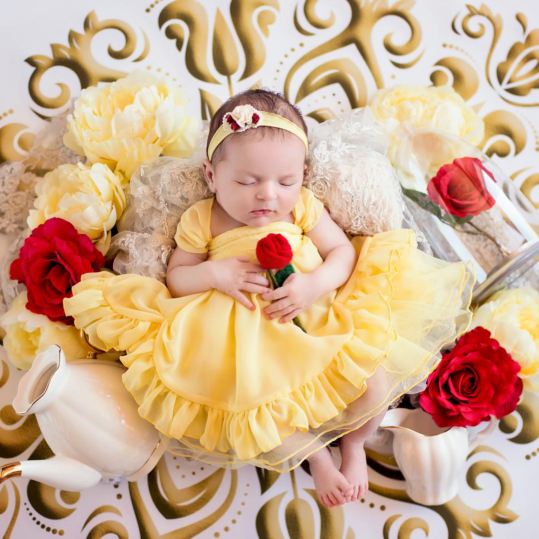 寶寶寫真:美女與野獸-貝兒