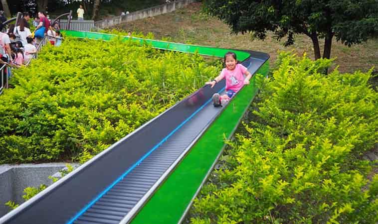 台北最長滾輪溜滑梯,中和錦和運動公園