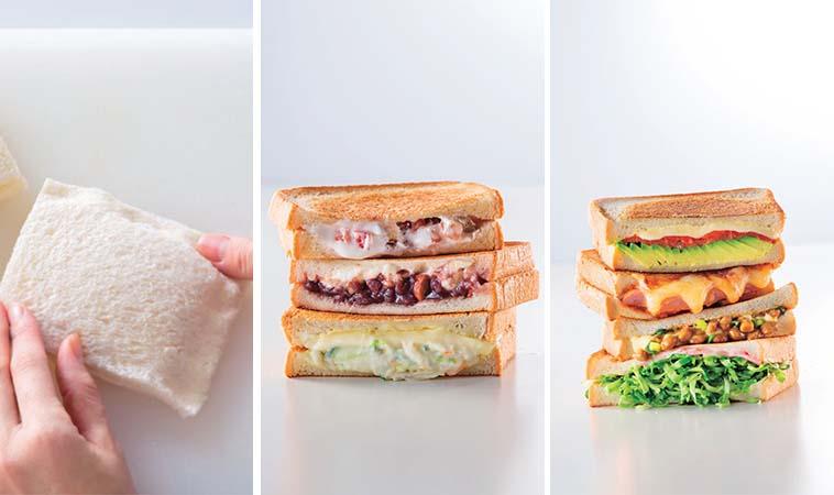 自製各式三明治,層層相疊口感超紮實