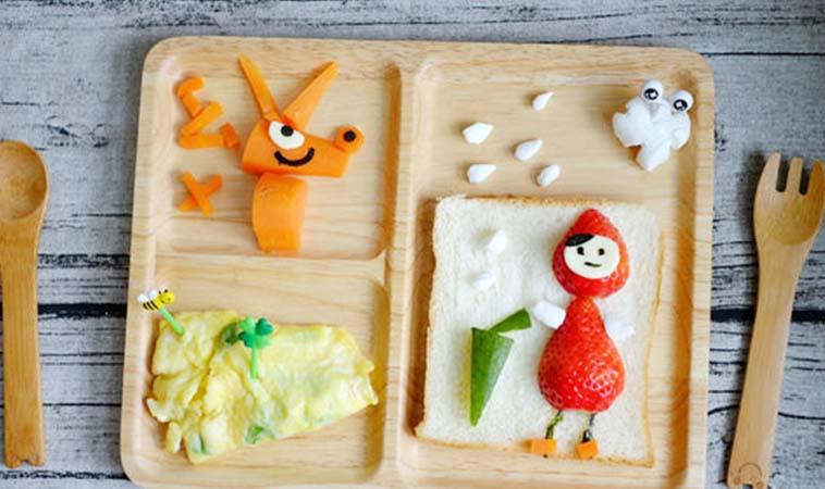 寶寶卡通造型料理,小紅帽與大野狼