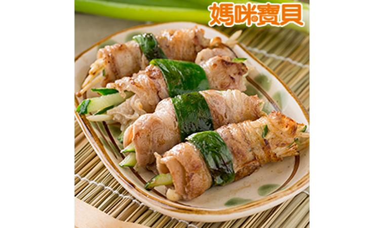 補血料理:牛肉捲鮮蔬、豬肝炒菠菜