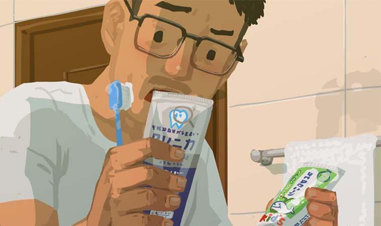 浴室間常發生的糗事,拿錯牙膏給孩子刷